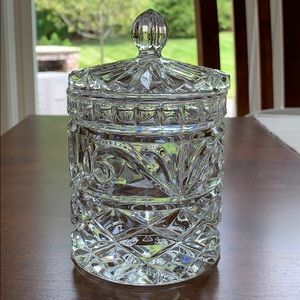 Vintage Lead Crystal Candy Jar with Lid Excellent